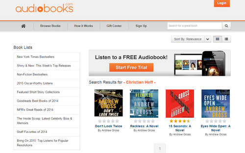 Audiobooks.com  Search  Stream and Download Audiobooks to Your iPhone, iPad, Android, or PC. Get a Free Audiobook! - Google Chrome 232015 54011 AM
